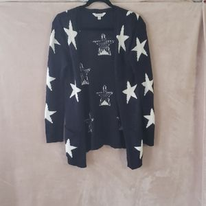 Navy cardigan with stars